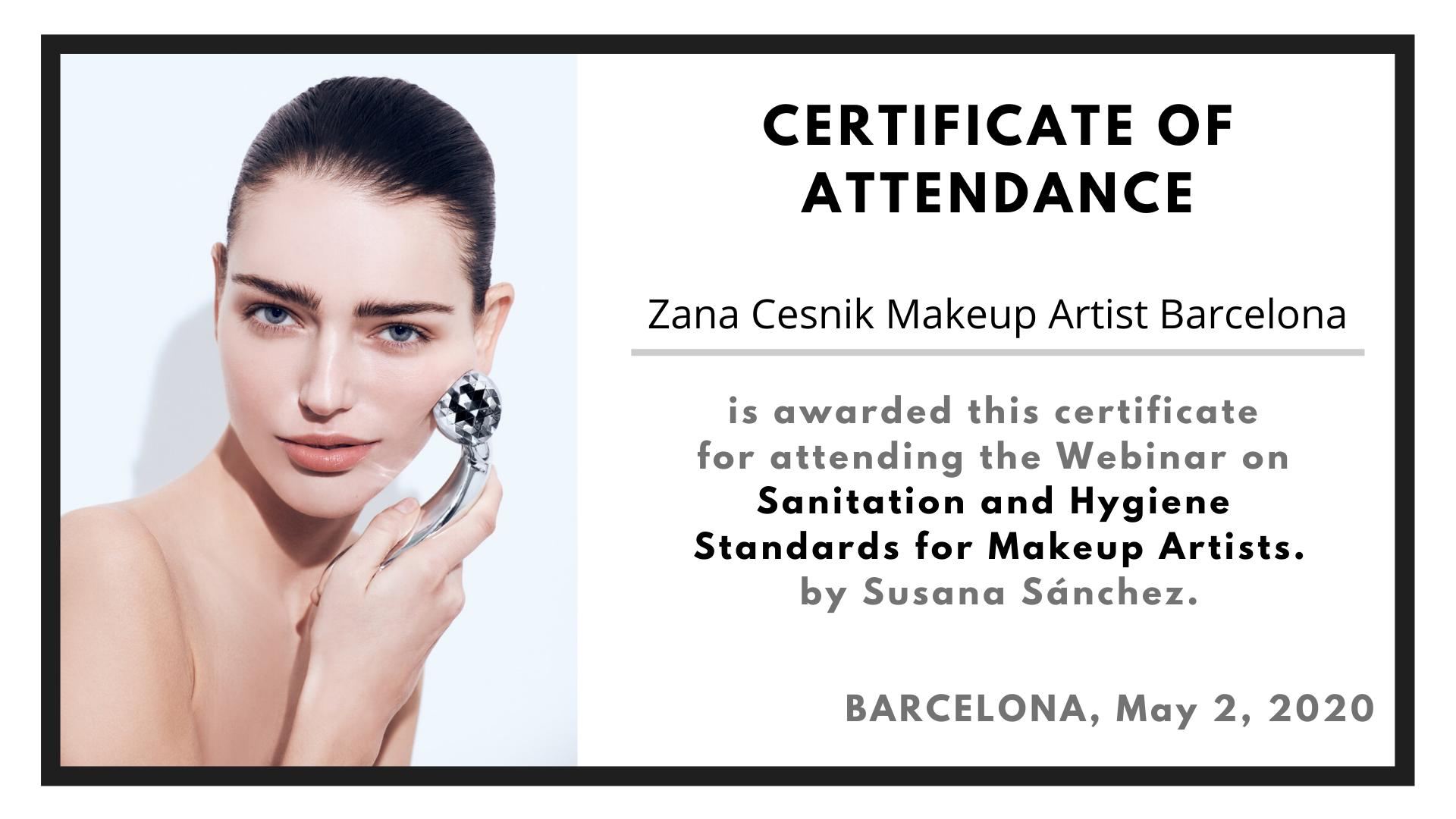 Makeup Hygiene Certificate